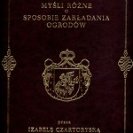 Myśli różne, I. Czartoryska, reprint z 1805r.