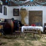 Ekspozycjia Bożonarodzeniowej chałupie z Izdebna