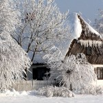 zima - skansen w Sierpcu