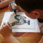 malowanie na szkle - ratusz w Sierpcu 5