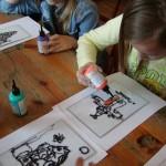 malowanie na szkle - ratusz w Sierpcu 4