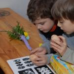 pisanki z tradycyjnym wzorem - ratusz w Sierpcu