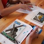 malowanie na szkle - ratusz w Sierpcu 2