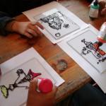 malowanie na szkle - ratusz w Sierpcu