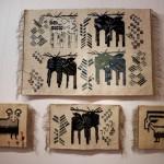 """Wystawa """"Kilimy, gobeliny..."""" w Ratuszu w Sierpcu - kilim, motywy zwierzęce"""