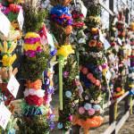 Niedziela Palmowa 2018, skansen w Sierpcu - palmy oceniane w konkursie