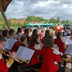 Majówka 2019, dzień drugi, skansen w Sierpcu - występ orkiestry dętej