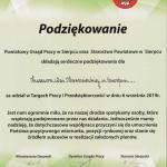 Skansen w Sierpcu na I Targach Pracy i Przedsiębiorczości - podziękowanie za udział