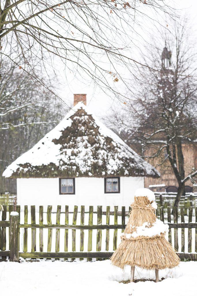 Zimowy pejzaż - Muzeum Wsi Mazowieckiej w Sierpcu