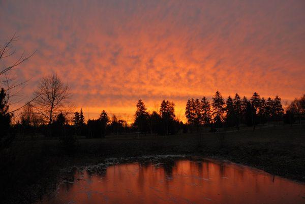 Zachód słońca - Skansen w Sierpcu