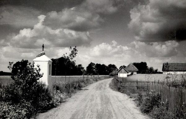 Widok na wieś skansenowską, zdjęcie archiwalne - Skansen w Sierpcu