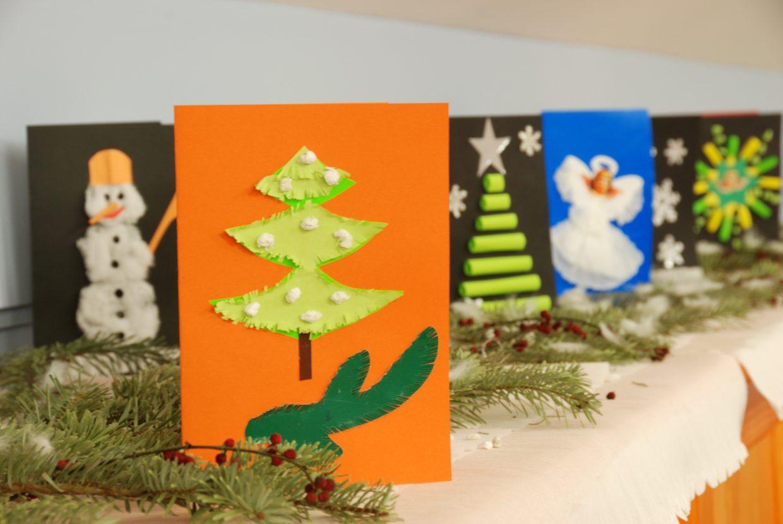 Ręcznie wykonane karty świąteczne - Skansen w Sierpcu