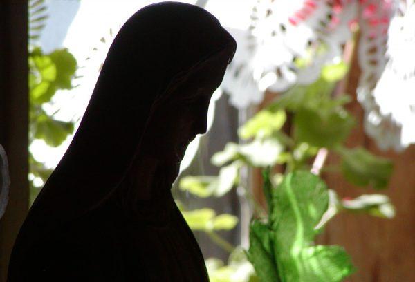 Zbliżenie - rzeźba Matki Boskiej - Skansen w Sierpcu