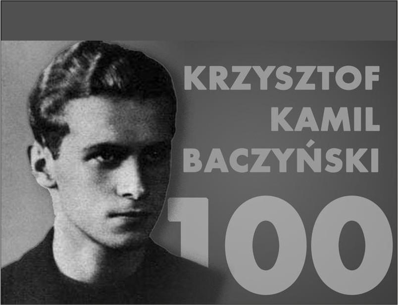 Plakat - widowisko z okazji 100 rocznicy urodzin Baczyńskiego